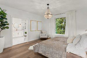 Elegant custom home addition master Bedroom