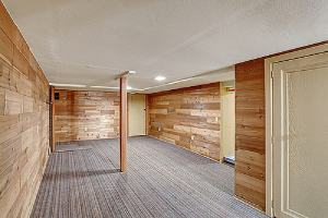 A finished basement. Basement remodeling can increase additional living space
