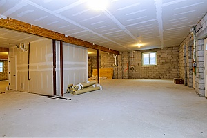 a basement remodel that is being performed by a reputable contractor