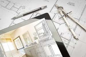 Master bathroom design layout over house plans. Remodeling a bathroom can be an expensive undertaking