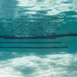 Bottom of an inground swimming pool