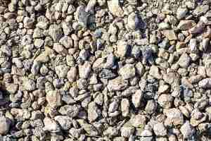 Crushed Stone. This types of gravel is often use for the final layer of the driveway