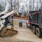 loading yard debris