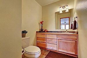 Half bathroom interior