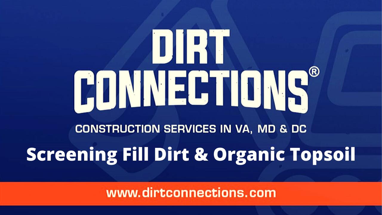 screening fill dirt and organic topsoil
