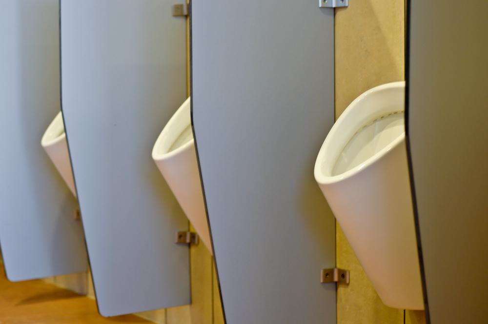 new urinals partition walls