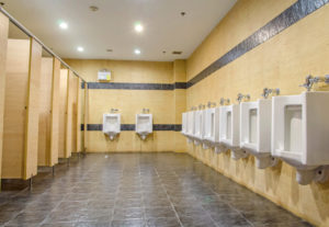 new toilet partition walls and urinals