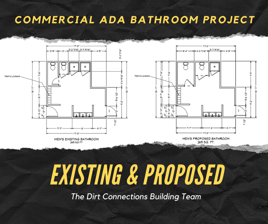 ada bathroom by the dirt connections building team