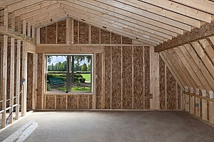 a new attic that has been added to a home