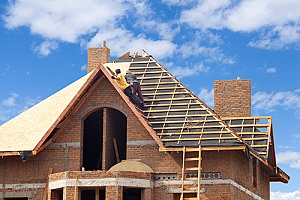 a new roof being built which may add to the average cost of a home addition