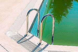 An old inground pool