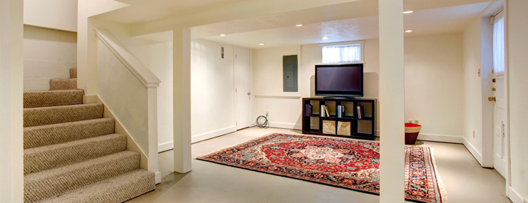 a finished basement constructed by a Northern VA basement remodeling contractor