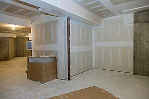 a Northern VA basement remodeling project that was started by a professional contractor