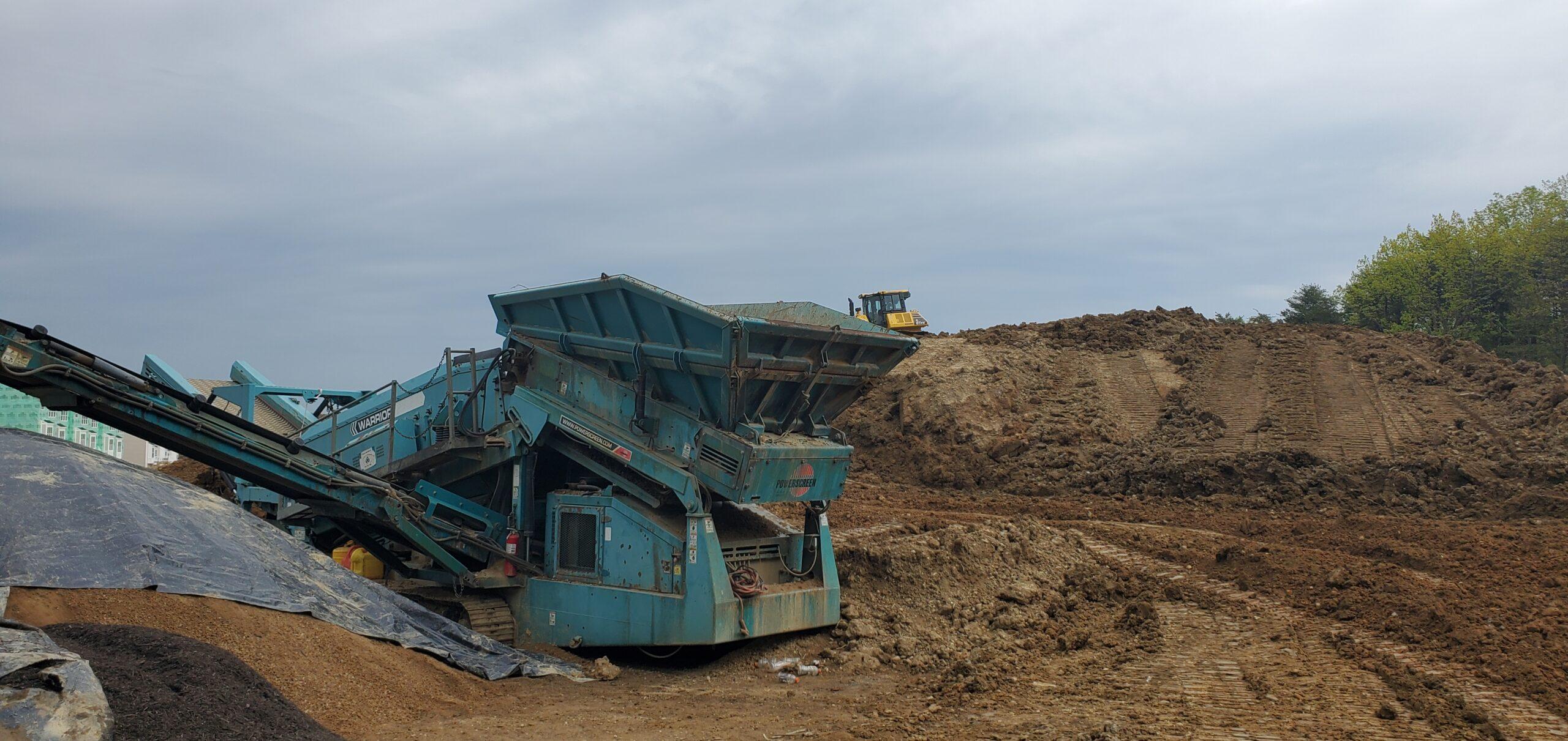 base material for screened fill dirt and organic topsoil dc metro area
