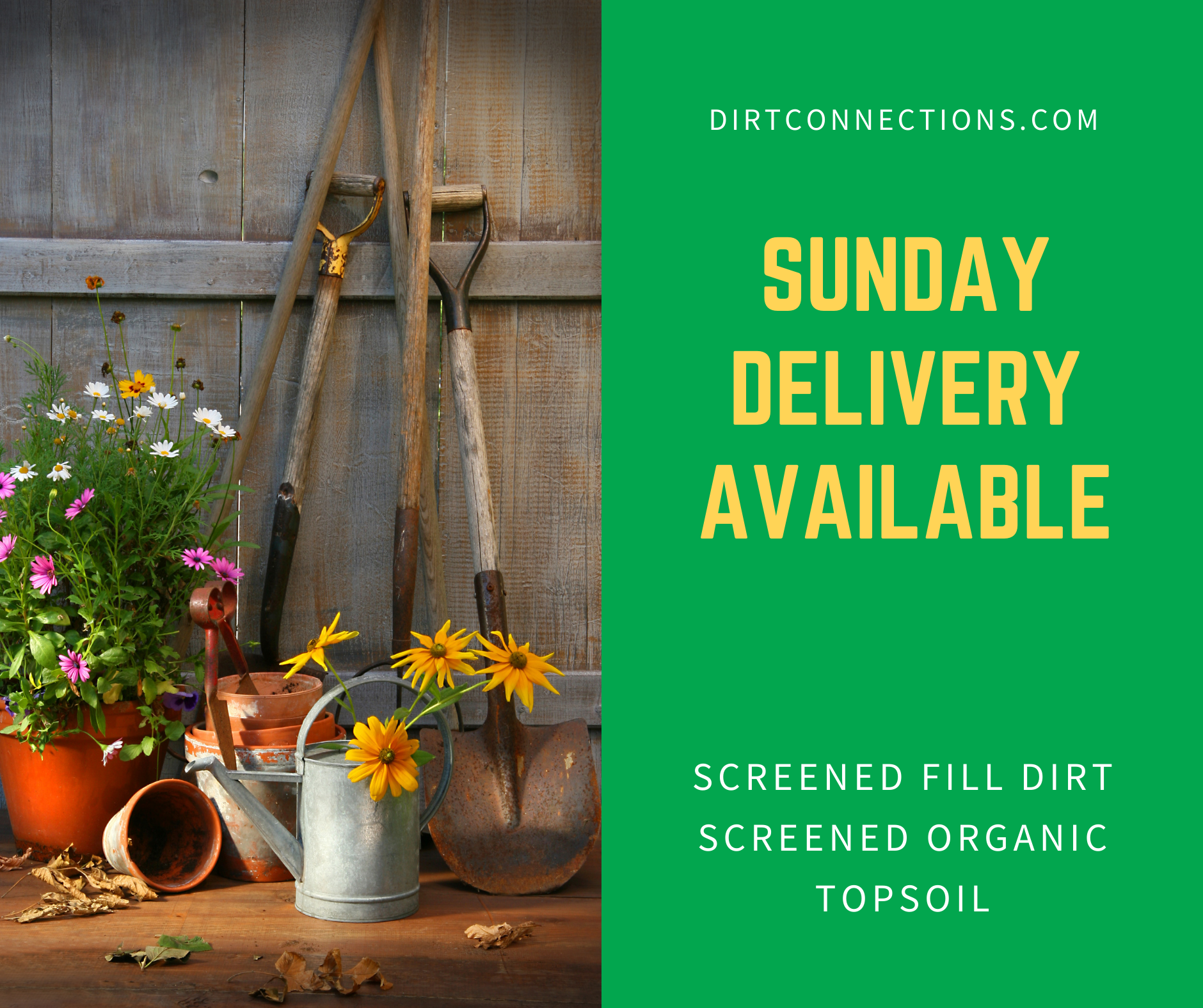 Sunday deliveries available now