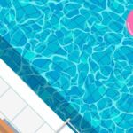 swimming pool top view background