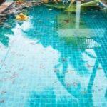 unused dirty swimming pool