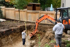 pool contractor removing pool
