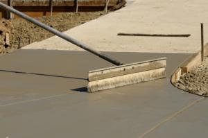 new concrete patio and sidewalk work