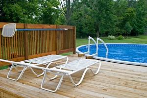 pool side deck