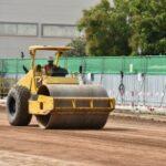 machine doing soil compaction